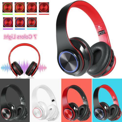 wireless headphones super bass bluetooth foldable stereo