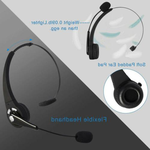 Wireless Headset Truck Noise Cancelling Over-Head Headphones US