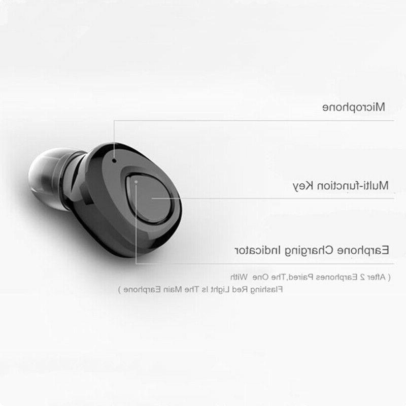 Wireless Earbuds w/Mic Sound Noise Cancelling