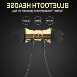 Magnetic Bluetooth Headphone Headset Stereo Earphone Wireles