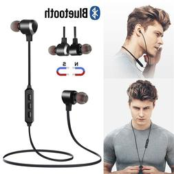 Magnetic Wireless Bluetooth Earphone Sports Headset Stereo E