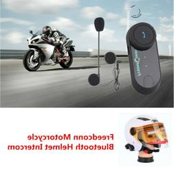 Freedconn Motorcycle Bluetooth Helmet Intercom Kit BT Interp