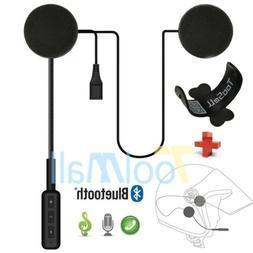 Motorcycle Helmet Headset Speakers Mic Bluetooth Handsfree M