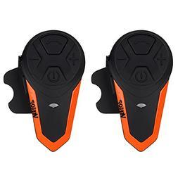 Motorcycle Intercom Bluetooth Helmet Headset - Veetop 1000M