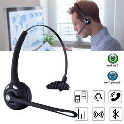 Office Wireless Bluetooth Headset for Cell Phone Skype Truck
