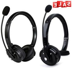 Over Head Boom Mic Bluetooth Noise-Canceling Headset Wireles