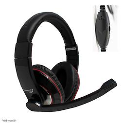 PC STEREO HEADSET wtih MICROPHONE    MHS-001   3.5mm Jack Pl