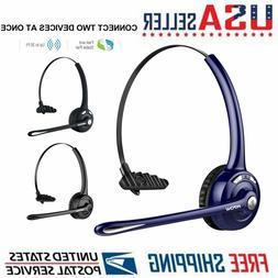 Mpow Pro Trucker Bluetooth Headset Call Center Headphone 4X