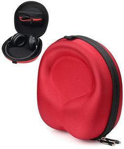 Red Headphone Case for Beats EP, Studio3, Jabra Move, Skullc
