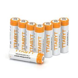 TYBATT Rechargeable AA Batteries, Precharged Batteries AA 17