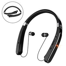 Retractable Bluetooth Headset, Wireless Headphones  with Nec