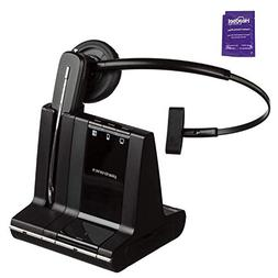 Plantronics Savi W740 Wireless Headset System Bundle with He