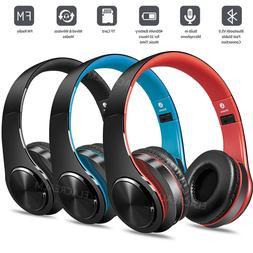 Bluetooth Headset Wireless Stereo Earphone Over-Ear Foldable