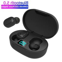 TWS Wireless Earphone For Redmi Earbuds LED Display <font><b