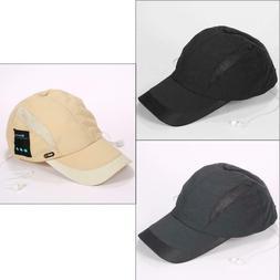 Unisex Wireless Sport Bluetooth Music Hat Headset Earphones