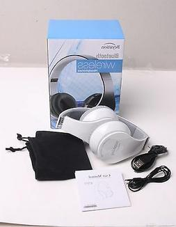 White Over-ear Bluetooth Headphones with Mic for all Cell Ph
