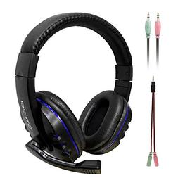 Wired Headset, MMHDZ X6 Game Headphone with Microphone Revol