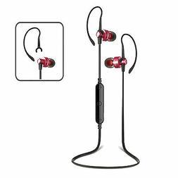 Wireless Bluetooth 4.0 Red/Black Headphones Headset iPhone S