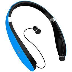 Wireless Bluetooth 4.1 Headset, Retractable and Foldable Ne