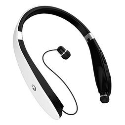 EGRD Wireless Bluetooth 4.1 Neckband Style Headphones, White