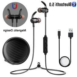 Wireless Bluetooth 5.0 Headset Stereo Earbuds Sports Earphon