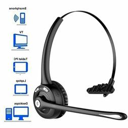 Mpow Wireless Bluetooth Boom Mic Headset Noise Cancelling Ha
