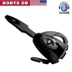 Wireless Bluetooth Earphone Ear Hook Headset Microphone For