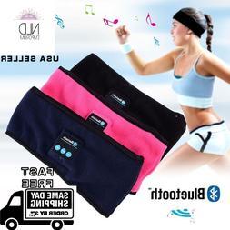 Wireless Bluetooth Headphones Fleece Sleep Headband Music Sl