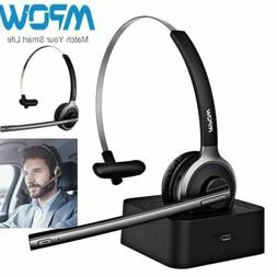 Mpow Wireless Bluetooth Headset Advanced Noise Cancel Chargi