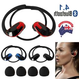 Wireless Bluetooth Headset Earphone Sport Sweat proof Stereo