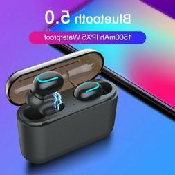 Mpow Wireless Bluetooth Headset Headphone Stereo Single Earp