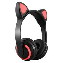 Aoile Wireless Bluetooth Stereo Cute Animal Ear Design Headp