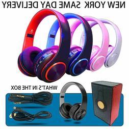 Wireless Bluetooth Stereo Headsets Microphone Super HIFI Bas