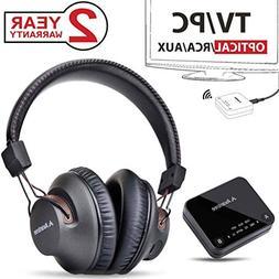 2018 Avantree HT4189 Wireless Headphones for TV Watching & P