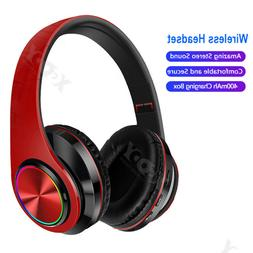 Bluetooth 5.0 Headphones Earphones HD Stereo Wireless Headse